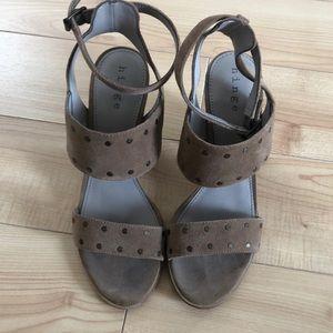 Hinge block heel sandals